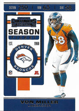 Load image into Gallery viewer, 2019 Panini Contenders Base Veteran Cards #1-100 - Pick Your Cards: #47 Von Miller