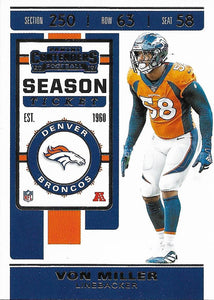 2019 Panini Contenders Base Veteran Cards #1-100 - Pick Your Cards: #47 Von Miller