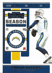 2019 Panini Contenders Base Veteran Cards #1-100 - Pick Your Cards: #48 Philip Rivers