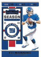Load image into Gallery viewer, 2019 Panini Contenders Base Veteran Cards #1-100 - Pick Your Cards: #51 Eli Manning