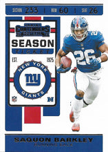 Load image into Gallery viewer, 2019 Panini Contenders Base Veteran Cards #1-100 - Pick Your Cards: #52 Saquon Barkley