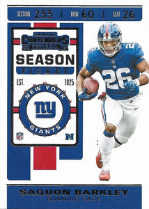 2019 Panini Contenders Base Veteran Cards #1-100 - Pick Your Cards: #52 Saquon Barkley