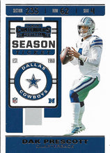 Load image into Gallery viewer, 2019 Panini Contenders Base Veteran Cards #1-100 - Pick Your Cards: #54 Dak Prescott
