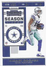 Load image into Gallery viewer, 2019 Panini Contenders Base Veteran Cards #1-100 - Pick Your Cards: #55 Amari Cooper