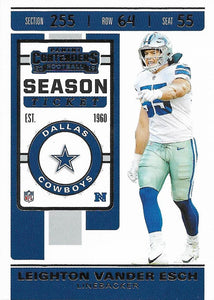2019 Panini Contenders Base Veteran Cards #1-100 - Pick Your Cards: #56 Leighton Vander Esch