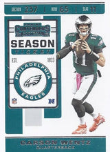 Load image into Gallery viewer, 2019 Panini Contenders Base Veteran Cards #1-100 - Pick Your Cards: #57 Carson Wentz