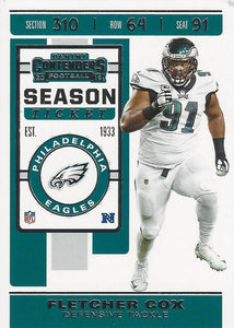2019 Panini Contenders Base Veteran Cards #1-100 - Pick Your Cards: #58 Fletcher Cox