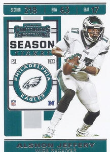 2019 Panini Contenders Base Veteran Cards #1-100 - Pick Your Cards: #59 Alshon Jeffery