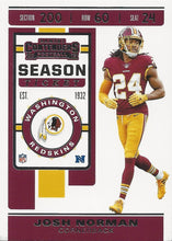 Load image into Gallery viewer, 2019 Panini Contenders Base Veteran Cards #1-100 - Pick Your Cards: #61 Josh Norman
