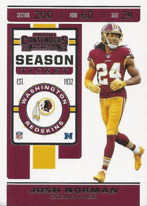 2019 Panini Contenders Base Veteran Cards #1-100 - Pick Your Cards: #61 Josh Norman