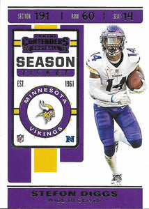 2019 Panini Contenders Base Veteran Cards #1-100 - Pick Your Cards: #64 Stefon Diggs