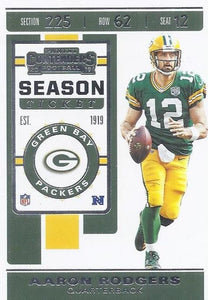 2019 Panini Contenders Base Veteran Cards #1-100 - Pick Your Cards: #66 Aaron Rodgers