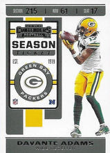 Load image into Gallery viewer, 2019 Panini Contenders Base Veteran Cards #1-100 - Pick Your Cards: #68 Davante Adams