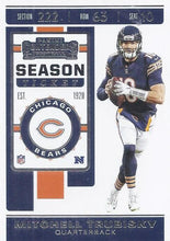 Load image into Gallery viewer, 2019 Panini Contenders Base Veteran Cards #1-100 - Pick Your Cards: #69 Mitchell Trubisky