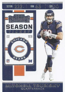 2019 Panini Contenders Base Veteran Cards #1-100 - Pick Your Cards: #69 Mitchell Trubisky