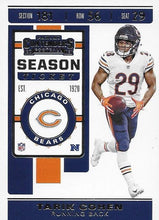 Load image into Gallery viewer, 2019 Panini Contenders Base Veteran Cards #1-100 - Pick Your Cards: #70 Tarik Cohen