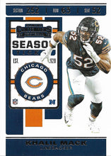Load image into Gallery viewer, 2019 Panini Contenders Base Veteran Cards #1-100 - Pick Your Cards: #71 Khalil Mack