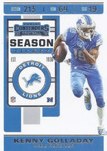 Load image into Gallery viewer, 2019 Panini Contenders Base Veteran Cards #1-100 - Pick Your Cards: #74 Kenny Golladay