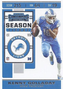 2019 Panini Contenders Base Veteran Cards #1-100 - Pick Your Cards: #74 Kenny Golladay