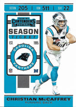 Load image into Gallery viewer, 2019 Panini Contenders Base Veteran Cards #1-100 - Pick Your Cards: #76 Christian McCaffrey