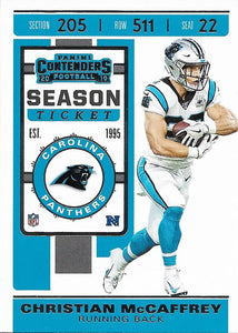 2019 Panini Contenders Base Veteran Cards #1-100 - Pick Your Cards: #76 Christian McCaffrey