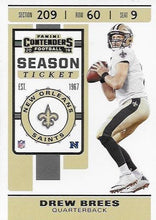 Load image into Gallery viewer, 2019 Panini Contenders Base Veteran Cards #1-100 - Pick Your Cards: #78 Drew Brees