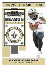 Load image into Gallery viewer, 2019 Panini Contenders Base Veteran Cards #1-100 - Pick Your Cards: #79 Alvin Kamara