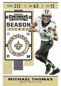 2019 Panini Contenders Base Veteran Cards #1-100 - Pick Your Cards: #80 Michael Thomas
