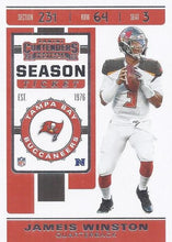 Load image into Gallery viewer, 2019 Panini Contenders Base Veteran Cards #1-100 - Pick Your Cards: #81 Jameis Winston
