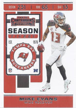 Load image into Gallery viewer, 2019 Panini Contenders Base Veteran Cards #1-100 - Pick Your Cards: #82 Mike Evans