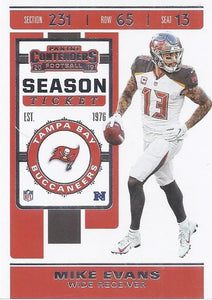 2019 Panini Contenders Base Veteran Cards #1-100 - Pick Your Cards: #82 Mike Evans