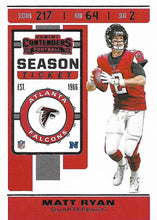 Load image into Gallery viewer, 2019 Panini Contenders Base Veteran Cards #1-100 - Pick Your Cards: #84 Matt Ryan
