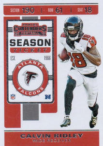 2019 Panini Contenders Base Veteran Cards #1-100 - Pick Your Cards: #86 Calvin Ridley