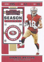 Load image into Gallery viewer, 2019 Panini Contenders Base Veteran Cards #1-100 - Pick Your Cards: #88 Dante Pettis