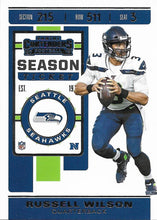 Load image into Gallery viewer, 2019 Panini Contenders Base Veteran Cards #1-100 - Pick Your Cards: #90 Russell Wilson