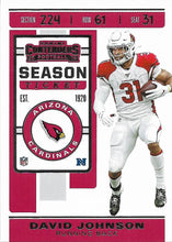 Load image into Gallery viewer, 2019 Panini Contenders Base Veteran Cards #1-100 - Pick Your Cards: #93 David Johnson