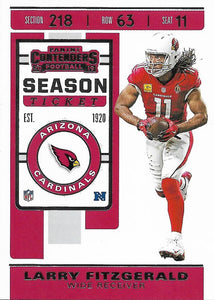 2019 Panini Contenders Base Veteran Cards #1-100 - Pick Your Cards: #94 Larry Fitzgerald