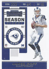 Load image into Gallery viewer, 2019 Panini Contenders Base Veteran Cards #1-100 - Pick Your Cards: #96 Jared Goff