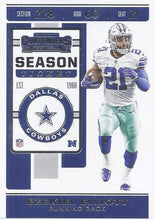 Load image into Gallery viewer, 2019 Panini Contenders Base Veteran Cards #1-100 - Pick Your Cards: #99 Ezekiel Elliott