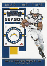 Load image into Gallery viewer, 2019 Panini Contenders Base Veteran Cards #1-100 - Pick Your Cards: #100 Melvin Gordon III