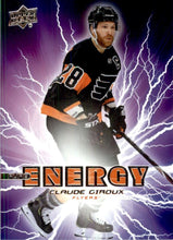 Load image into Gallery viewer, 2019-20 Upper Deck Hockey SERIES 1 PURE ENERGY Inserts ~ Pick your card