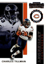Load image into Gallery viewer, 2019 Panini Contenders LEGENDARY CONTENDERS Insert - Pick Your Cards: #LC-CT Charles Tillman  - Chicago Bears