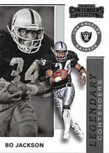 Load image into Gallery viewer, 2019 Panini Contenders LEGENDARY CONTENDERS Insert - Pick Your Cards: #LC-BJ Bo Jackson  - Los Angeles Raiders