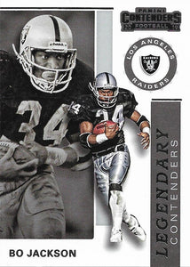2019 Panini Contenders LEGENDARY CONTENDERS Insert - Pick Your Cards: #LC-BJ Bo Jackson  - Los Angeles Raiders