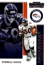 Load image into Gallery viewer, 2019 Panini Contenders LEGENDARY CONTENDERS Insert - Pick Your Cards: #LC-TD Terrell Davis  - Denver Broncos