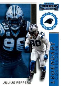 2019 Panini Contenders LEGENDARY CONTENDERS Insert - Pick Your Cards: #LC-JP Julius Peppers  - Carolina Panthers