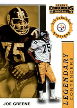 Load image into Gallery viewer, 2019 Panini Contenders LEGENDARY CONTENDERS Insert - Pick Your Cards: #LC-JG Joe Greene  - Pittsburgh Steelers