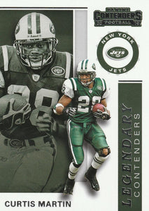 2019 Panini Contenders LEGENDARY CONTENDERS Insert - Pick Your Cards: #LC-CM Curtis Martin  - New York Jets