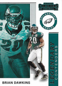 2019 Panini Contenders LEGENDARY CONTENDERS Insert - Pick Your Cards: #LC-BD Brian Dawkins  - Philadelphia Eagles