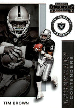 Load image into Gallery viewer, 2019 Panini Contenders LEGENDARY CONTENDERS Insert - Pick Your Cards: #LC-TB Tim Brown  - Los Angeles Raiders